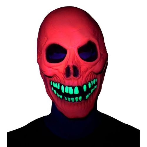 U.V Neon Skull Mask Accessory Fancy Dress